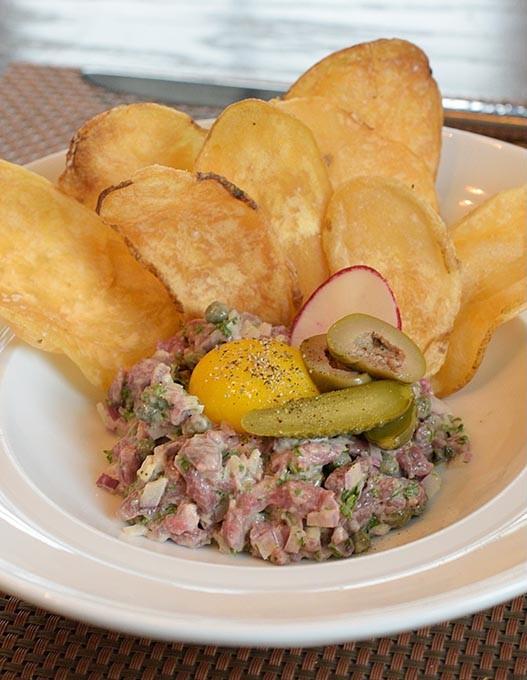 Steak tartare at Viceroy Grille, Friday, May 19, 2017. - GARETT FISBECK