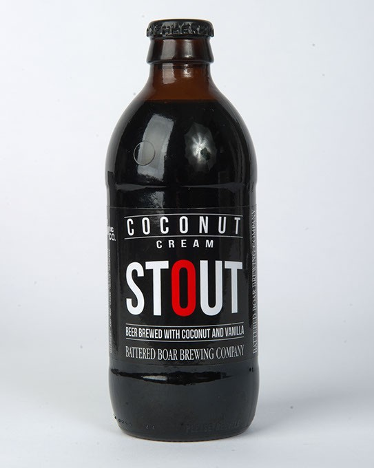 Battered Boar Brewing Company Coconut Cream Stout for Gazette Fall Brew Review 2016. - GARETT FISBECK