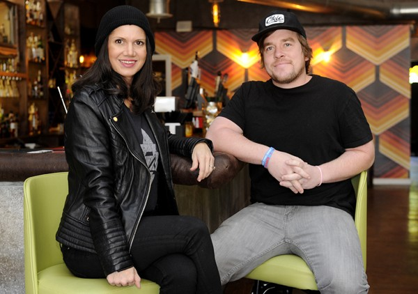 Drew and Anna Mains pose for a photo at Rockford Cocktail Den in Oklahoma City, Tuesday, Dec. 1, 2015. - GARETT FISBECK