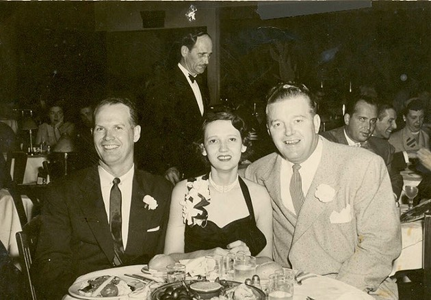 R. Duane Conner, his wife Jean, and Bill Alexander in San Francisco, 1953. - LYNNE ROSTOCHIL'S COLLECTION - PROVIDED