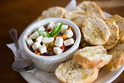 Gaberino's Italian Restaurant serves Bruschetta on Wednesday, August  31, 2016 in Oklahoma City, OK. - EMMY VERDIN