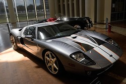 2006 Ford GT at The Art of Speed exhibit at the Oklahoma History Center, Wednesday, July 5, 2017. - GARETT FISBECK