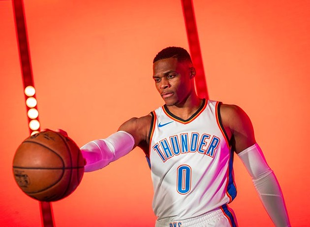 Russell Westbrook signed a five-year, $205 million contract extension in late September, likely cementing the Oklahoma City Thunder's competitive relevance for the near future. (Zach Beeker / Oklahoma City Thunder / provided)