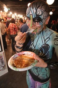 The Pancakes & Booze Art Show OKC features live music, art, alcohol and pancakes. (provided)