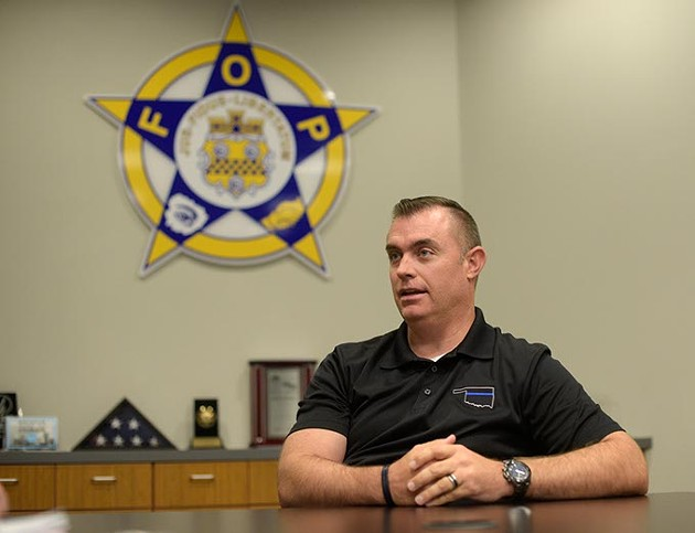 John George, president of the Fraternal Order of the Police, talks about plans to bulk up Oklahoma City's police force, Tuesday, Aug. 1, 2017