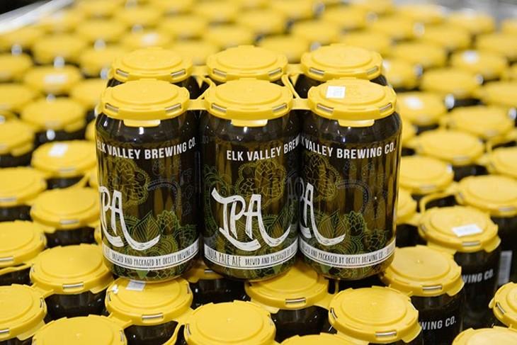 IPA cans at Elk Valley Brewing Company, Thursday, Dec. 8, 2016. - GARETT FISBECK