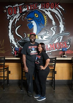 Owners Corey and Loneisha Harris at Off the Hook, Tuesday, Feb. 14, 2017. - GARETT FISBECK