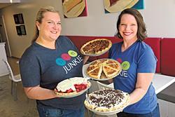 Leslie Coale-Mossman and Darcy Schein at Pie Junkie, Tuesday, Aug. 15, 2017.  (Garett Fisbeck)