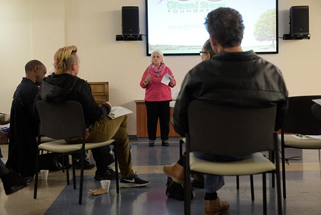 Eileen Morefield, president, addresses a group at a NAMI meeting at Lord of Life Lutheran Church in Edmond, Tuesday, Jan. 10, 2017. - GARETT FISBECK