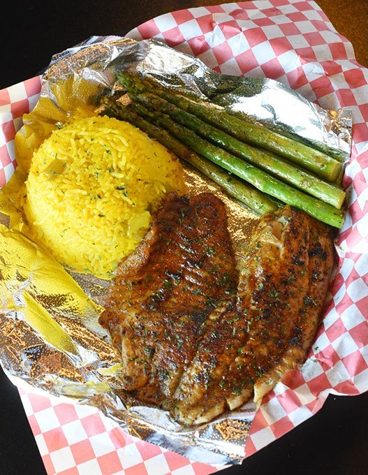 Grilled Tilapia basket at Off The Hook Seafood and More in Oklahoma City, Thursday, July 21, 2016. - GARETT FISBECK
