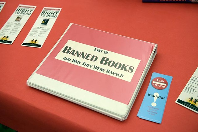 Annually, the Oklahoma City Community College library features a display with information about banned or challenged books during the national Banned Books Week. (Garett Fisbeck)