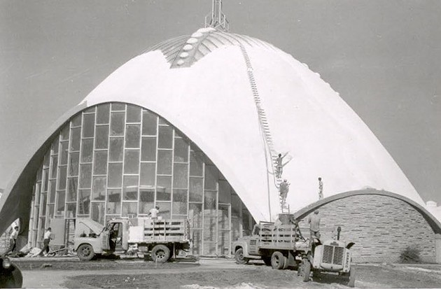 First Christian Church under construction, 1956 (First Christian Church archives / Provided)