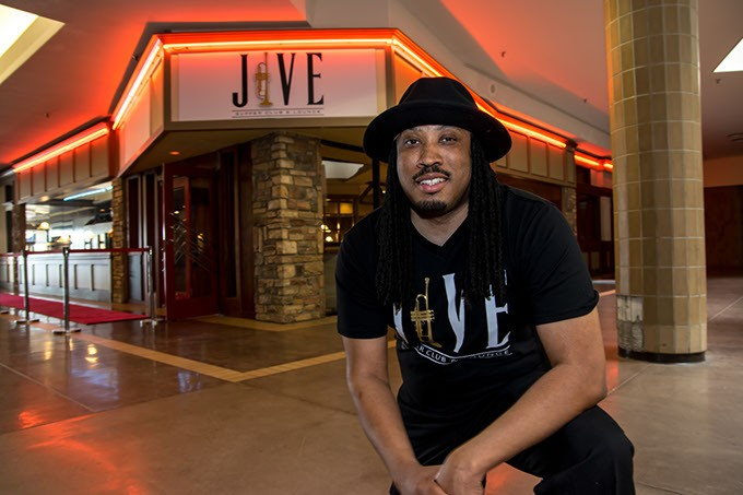 Owner David Threatt outside Jive Supper Club & Lounge, inside Plaza Mayor at the Crossroads mall, in OKC, 04-04-17. - MARK HANCOCK