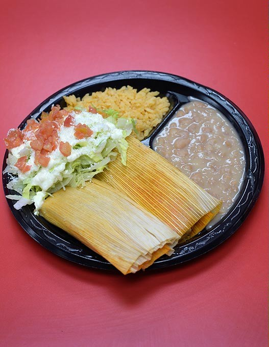 Tamales at Supermercado Morelos, Monday, May 22, 2017. - GARETT FISBECK