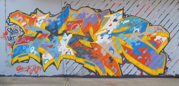 A mural by Tulsa-based artist Chris SKER, who is co-curating the Not For Sale exhibition. (provided)
