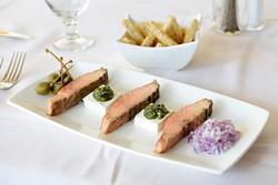 Smoked salmon appetizer at Museum Cafe, Tuesday, Nov. 29, 2016. - GARETT FISBECK