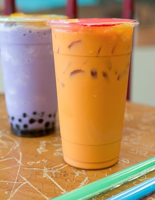 Cafe Oasis serves Thai Tea chilled over ice on Tuesday, July 12, 2016 in Oklahoma City. - EMMY VERDIN