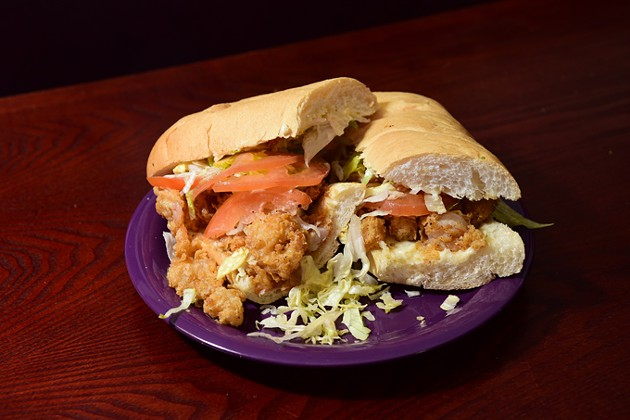 Shrimp Po-boy at C'Est Si Bon, Cajun Catfish and PO-Boys in MWC.  mh