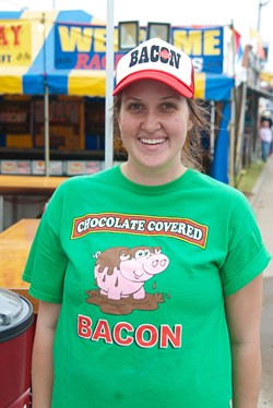 Lindsay Stoever runs the stand of the same name, at the State Fair.  mh