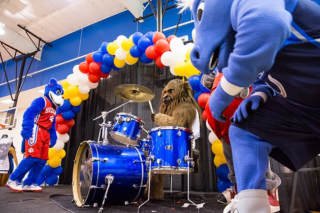 Breakfast with Rumble features entertainment by NBA mascots, the Thunder Girls and Thunder Drum Team. | Photo Zach Beeker / Oklahoma City Thunder / provided - ZACH BEEKER