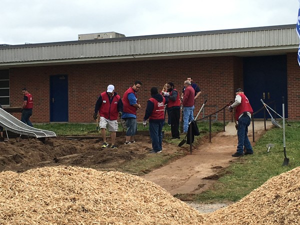 Volunteers in Lowe's Heroes program helped renovate Telstar Elementary School. | Photo Boys & Girls Clubs of Oklahoma County / provided