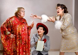 from left Zaneen Hotchkiss, Allyson Rose and Bailey Maxwell perform in Jewel Box Theatre's production of Suite Surrender. (Jim Beckel / Jewel Box Theatre / provided)