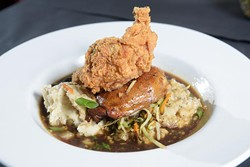 Chicken Two-Ways at The Mantel Wine Bar and Bistro Tuesday, June 27, 2017. - GARETT FISBECK