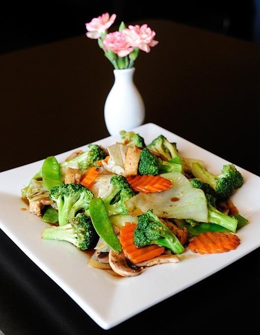 Pad Vegetables at Bistro 38 Thai Green Cuisine in Oklahoma City, Wednesday, Dec. 23, 2015. - GARETT FISBECK