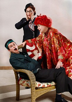 from left Joe Bonfiglio, Amandanell Bold and Zaneen Hotchkiss perform in Jewel Box Theatre's production of Suite Surrender. (Jim Beckel / Jewel Box Theatre / provided)