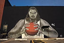 Steven Adams mural, Wednesday, Aug. 9, 2017.  (Garett Fisbeck)