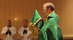Representatives from The Society of St. Pius X hold a Mass of reparation in 2014. | Photo The Society of St. Pius X / provided