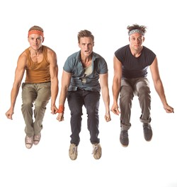 Ryan Fitzgerald as Action, Christopher Rice as Riff, Sean Watkinson as A-Rab | Photo KO Rinearson / Lyric Theatre of Oklahoma / provided - ©2017 K.O. RINEARSON