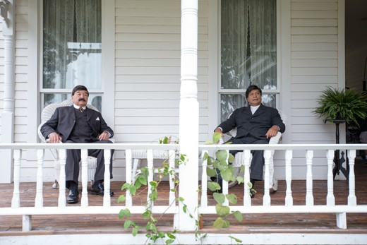 Oneida actor Graham Greene and Comanche actor Gil Birmingham portray Douglas Johnston and T. B. Fisher in Te Ata. (Photo Chickasaw Nation / provided)