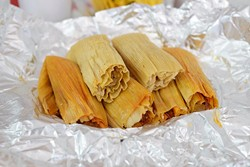 Tamales at Tamales El Patio, Monday, Sept. 12, 2016. - GARETT FISBECK