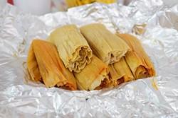 Tamales at Tamales El Patio, Monday, Sept. 12, 2016. - GARETT FISBECK