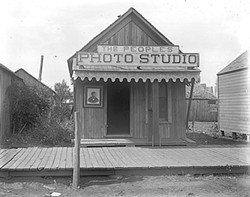 Henry Wantland's studio, seen here in a 1900 photo, captured much of life in pre-statehood Stillwater. - NATIONAL COWBOY & WESTERN HERITAGE MUSEUM / PROVIDED