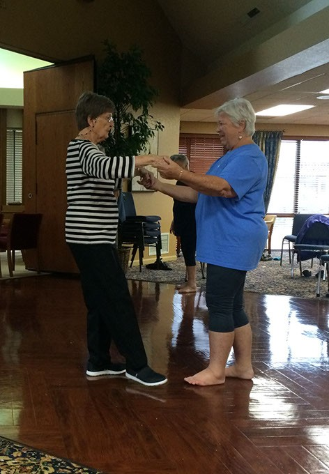 The Golden Swans class at The Fountains at Canterbury helps seniors maintain a healthy lifestyle. | Photo Stephanie Pitts / provided