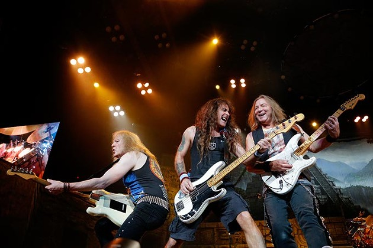Iron Maiden performs at the Chesapeake Energy Arena, Monday, June 19, 2017. - GARETT FISBECK