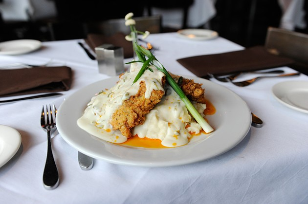 Chicken fried steak with jalapeno gravy at Cheevers in Oklahoma City, Tuesday, Dec. 22, 2015. - GARETT FISBECK