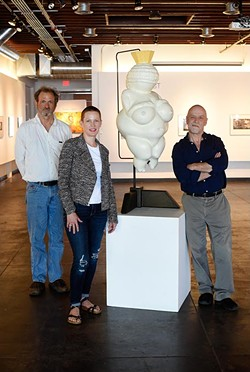 David Phelps, Marilyn Artus, and Mark Gilmore pose for a photo at IAO in Oklahoma City, Thursday, April 21, 2016. - GARETT FISBECK
