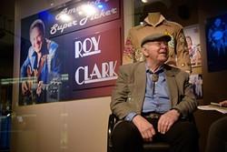 Roy Clark talks about his exhibit at the American Banjo Museum, Thursday, April 6, 2017. - GARETT FISBECK