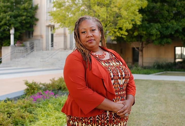 Rev. T. Sheri Dickerson, the leader of Black Lives Matter Oklahoma City (Garett Fisbeck)