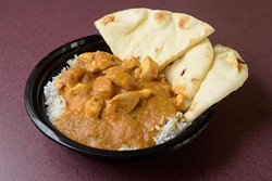 Chicken curry at Fusion Kitchen in Midwest City, Tuesday, Nov. 1, 2016. - GARETT FISBECK