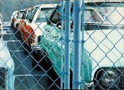 """Don Eddy, """"Private Parking V,"""" 1971. (Photo Oklahoma City Museum of Art / Westheimer Family Collection / Provided)"""
