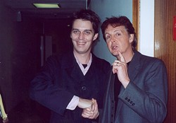 Steven Drozd fanboys with Paul McCartney back in the day (provided)