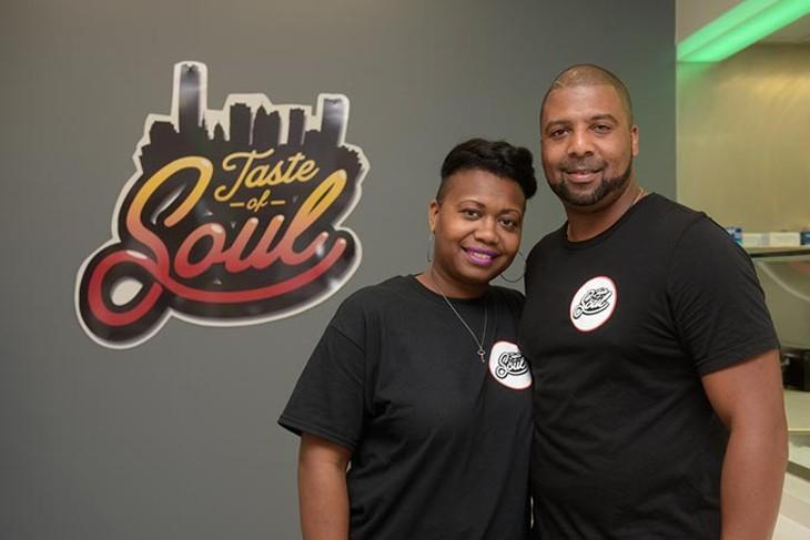 Cerese and Ricki Bly at Taste of Soul, Monday, Aug. 7, 2017. - GARETT FISBECK