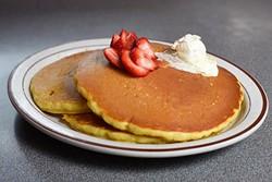 Pancakes at Sherri's Diner in Oklahoma City, Monday, May 2, 2016. - GARETT FISBECK