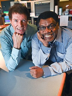 Jack Elliott (left) and Ron Williams, radio hosts at FUN 96.9 FM and longtime, local on-air personalities. (Gazette / file)