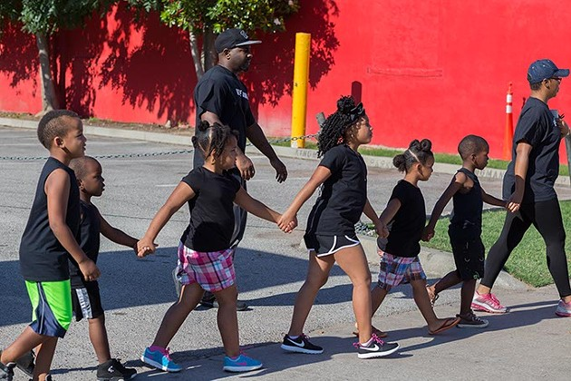 Children participate in the Black Lives Matter protest on Sunday, July 10, 2016 in Oklahoma City. - EMMY VERDIN
