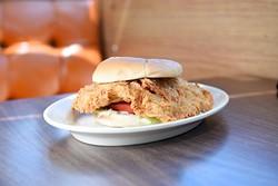 Chicken fried chicken sandwich at Chuck House in Oklahoma City, Tuesday, June 7, 2016. - GARETT FISBECK